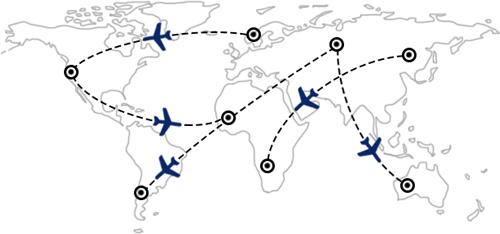 Rutes i combinacions de vols a tot el món
