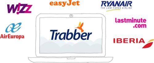Aerolínies i agències proveïdores de Trabber